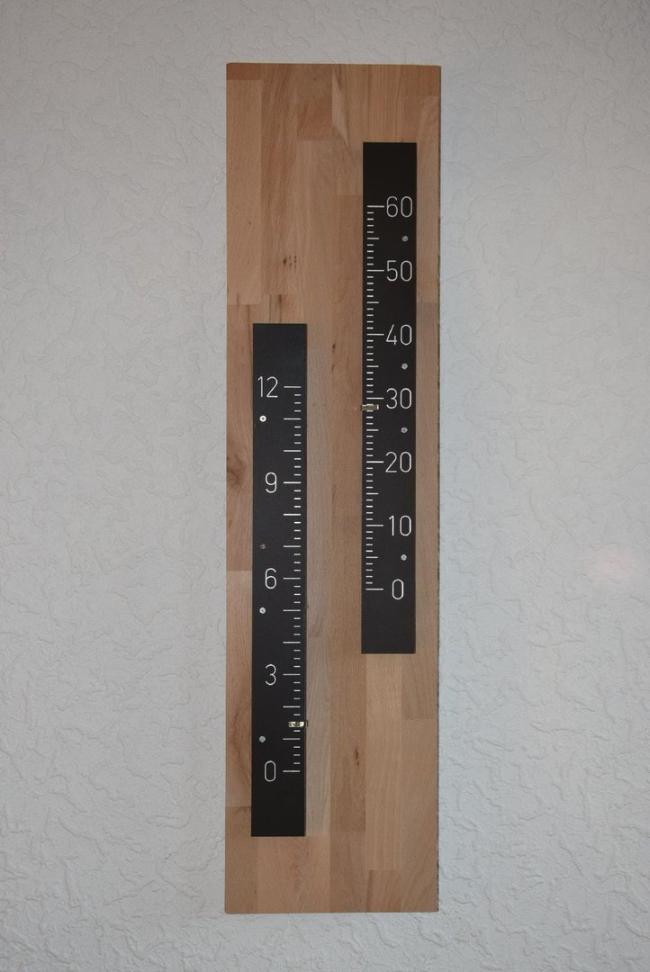 "Funkuhr ""Thermometer"""